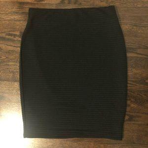 Black Midi Bandage Pencil Skirt